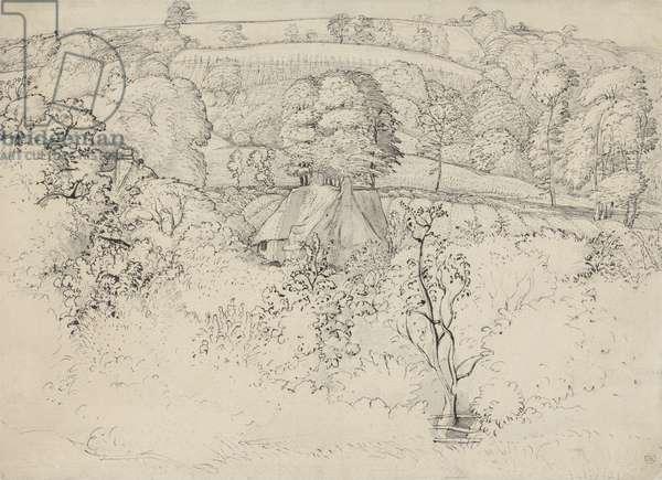 The Primitive Cottage, Shoreham (pen, ink and wash on paper)