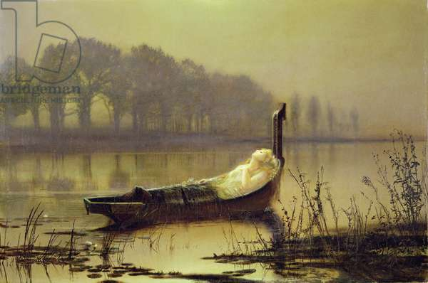 'The Lady of Shalott', c.1875 (oil on canvas)