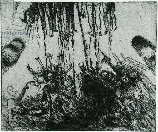 Untitled, from Disasters of War portfolio, 1999 (etching)