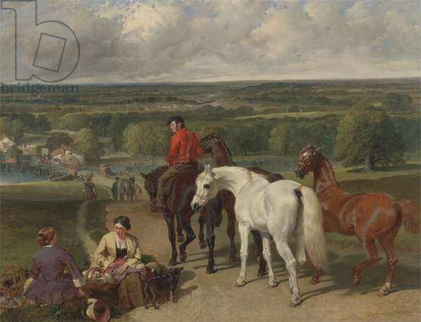 Exercising the royal horses, 1847-55 (oil on canvas)