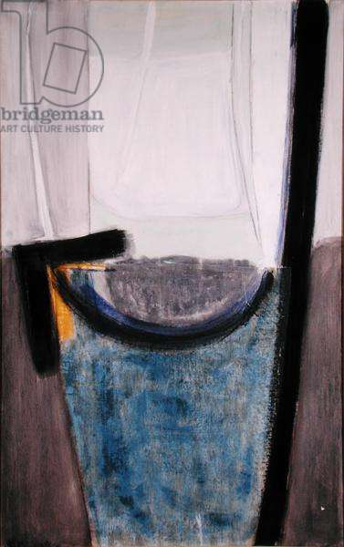 Linen Blue and Yellow, 1961 (oil and collage on canvas) (post-restoration)