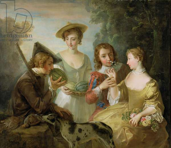 The Sense of Smell, c.1744-47 (oil on canvas) (see also 129302 & 129303)
