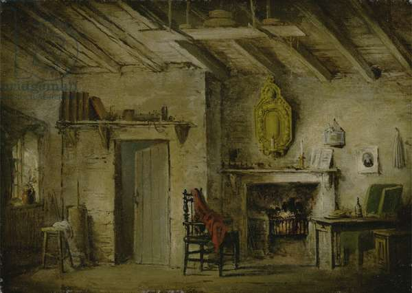The Deans' Cottage, stage design for 'The Heart of Midlothian', c.1819 (oil on canvas)