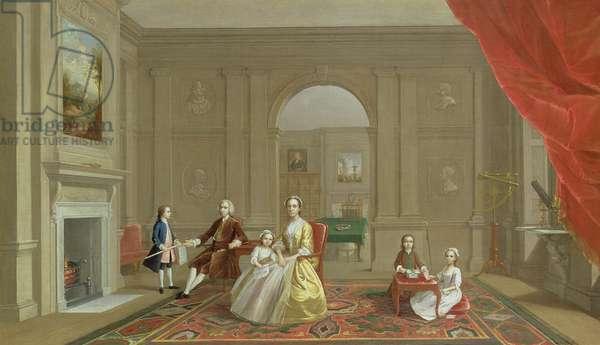 The John Bacon Family, c.1742-43 (oil on canvas)