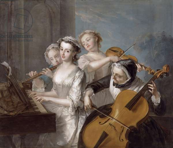 The Sense of Hearing, c.1744-7 (oil on canvas)