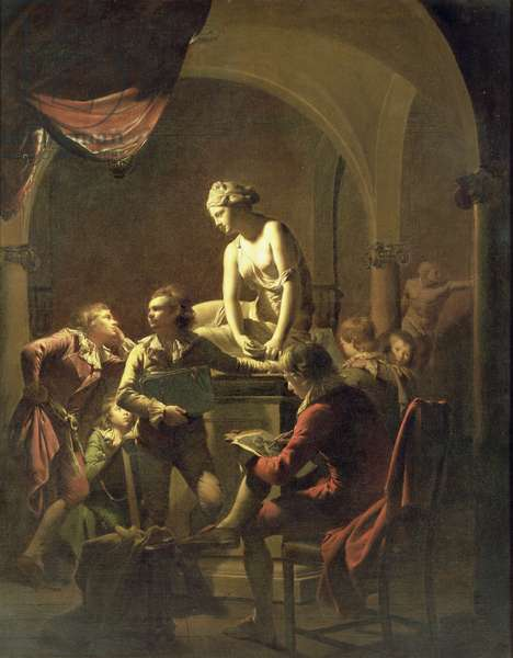 An Academy by Lamplight, c.1768-69 (oil on canvas)
