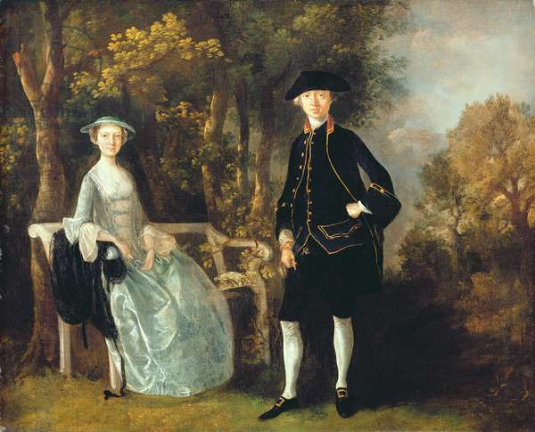 Lady Lloyd and her son, Richard Savage Lloyd, of Hintlesham Hall, Suffolk, c.1745-46 (oil on canvas)