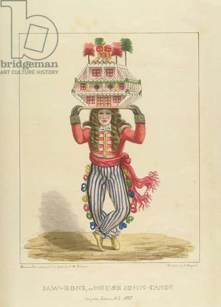 Jaw-Bone, or House John-Canoe, plate 3 from 'Sketches of Character...', 1838 (colour litho)