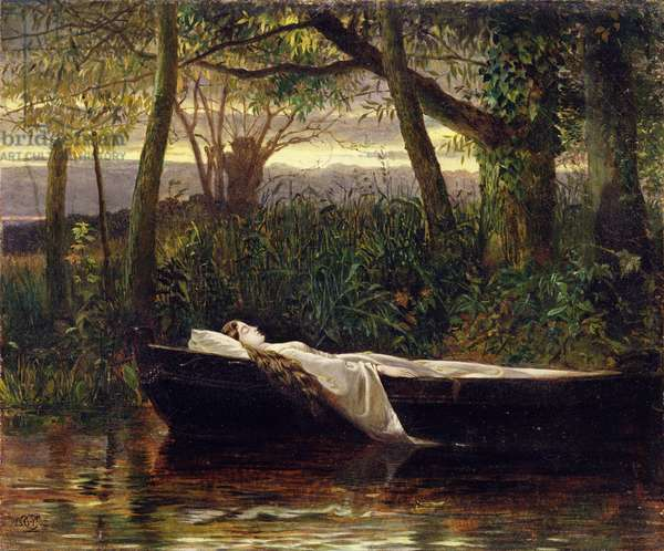 The Lady of Shalott, 1862 (oil on canvas)