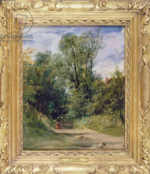 A Wooded Lane, c.1825 (oil on millboard)