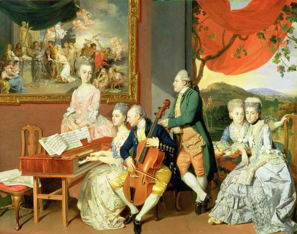George, 3rd Earl Cowper, with the Family of Charles Gore, c.1775 (oil on canvas)