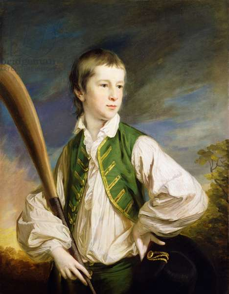 Charles Collyer as a boy, with a cricket bat, 1766 (oil on canvas)