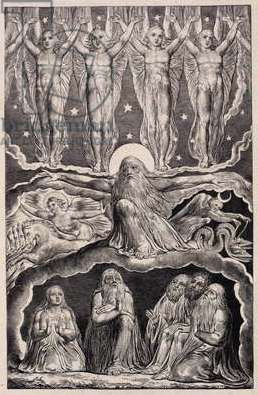The Lord answering Job out of the Whirlwind, plate 14 from 'Illustrations of the Book of Job', 1825 (engraving)