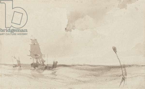 A Seascape (sepia wash on paper)