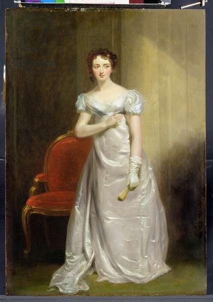 Harriet Smithson (1800-54) as Miss Dorillon, c.1822 (oil on panel)