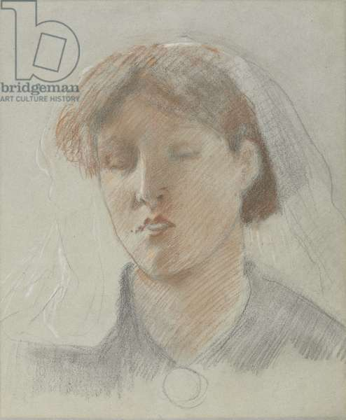 The Artist's Wife, Emma, on her Wedding Day (coloured chalks on paper)
