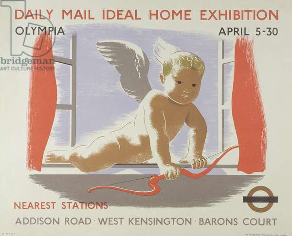 Poster for the Daily Mail Ideal Home Exhibition at Kensington Olympia, London, 1938 (colour litho)