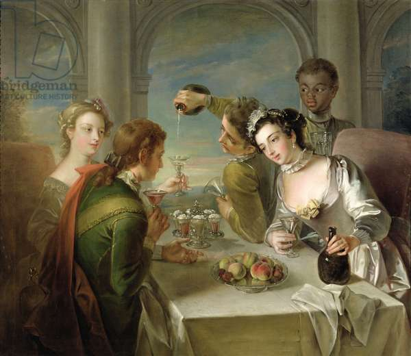 The Sense of Taste, c.1744-47 (oil on canvas) (see also 129301 & 129303)