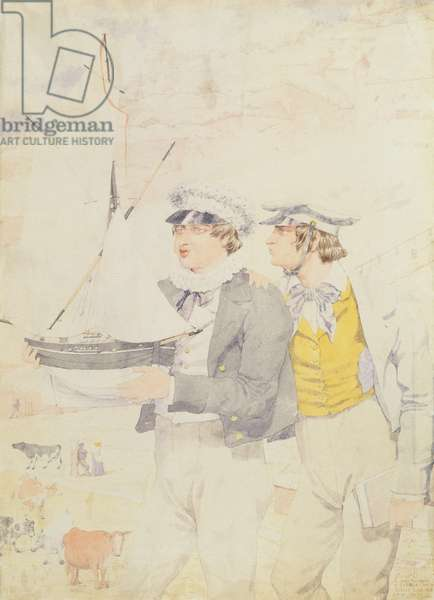 Juvenile Members of the Yacht Club, 1853 (w/c & graphite on paper)
