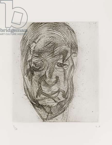 Lawrence Gowing, 1982 (etching)