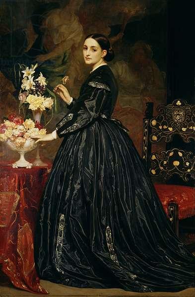 Mrs James Guthrie, c.1864-5 (oil on canvas)