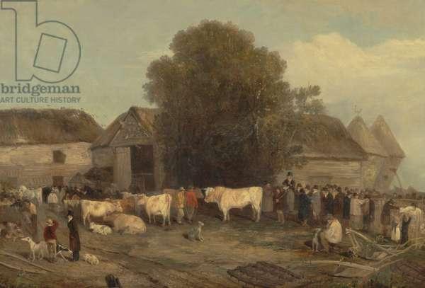 The Farm Sale, 1820 (oil on canvas)