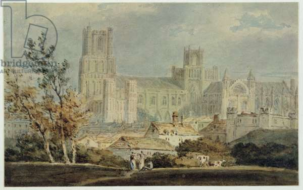 View of Ely Cathedral (pencil & w/c on paper)