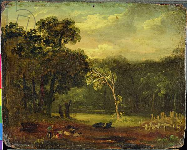 Sketch from Nature in Sion Park, 1819 (oil on card)