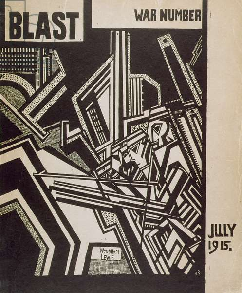 Front Cover of 'Blast', July 1915 (woodcut)