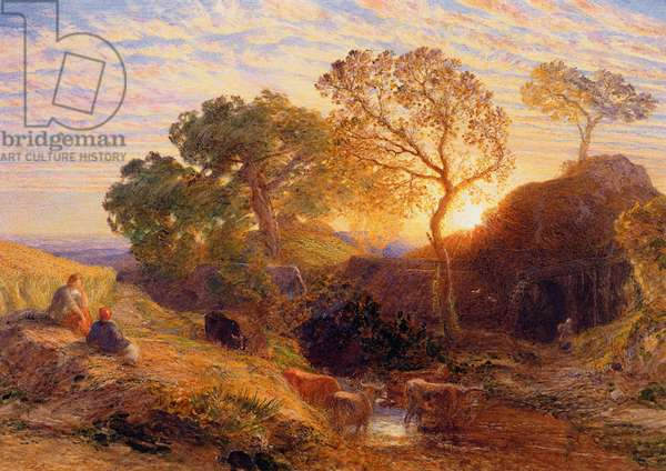 Sunset, c.1861 (w/c, graphite, b/c and gum on card)