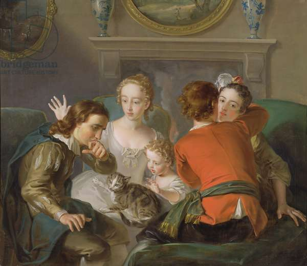The Sense of Touch, c.1744-47 (oil on canvas) (see also 129301 & 129302)