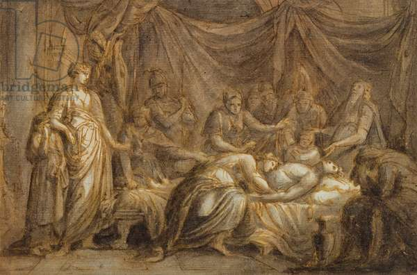 Andromache Mourning the Death of Hector, 1760-63 (pen & ink and wash on paper)