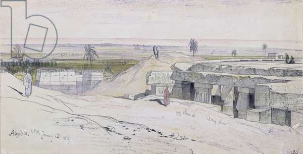 Abydus, 1pm, 12th January 1867 (ink and watercolour on paper)