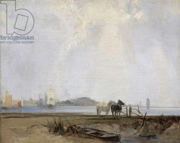 Near Quillebeuf, c.1824-25 (oil on canvas)