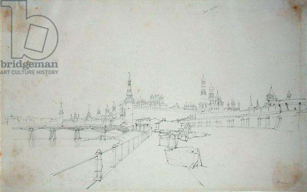 Moscow, 1827 (pencil on paper)