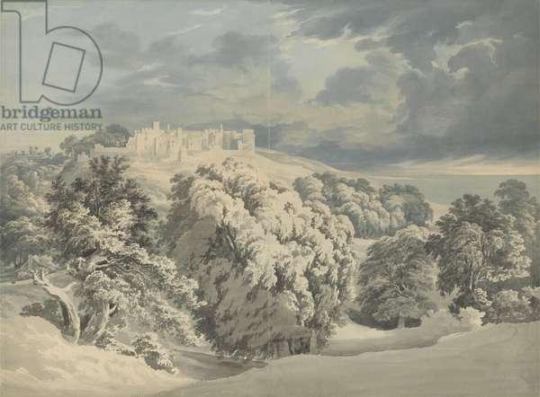 St. Donat's Castle, Glamorganshire (w/c over graphite on paper)