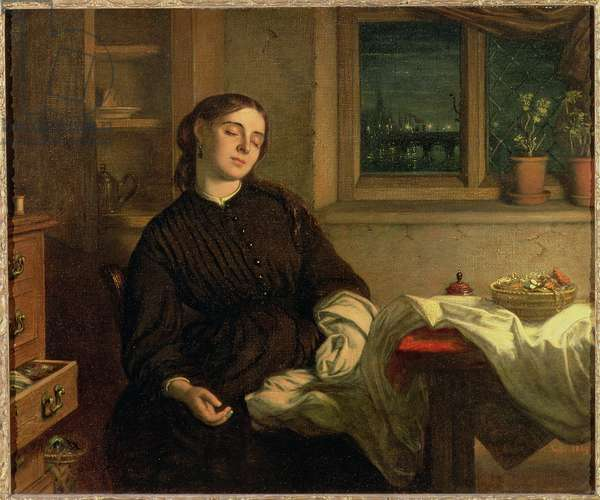 Home Dreams, 1869 (oil on canvas laid down on panel)