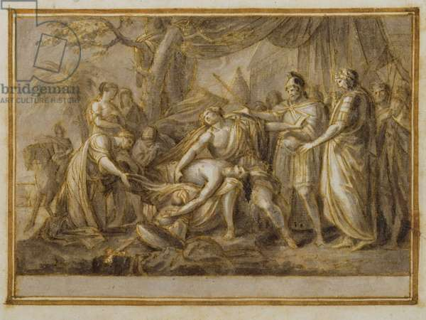 Achilles Lamenting the Death of Patroclus, 1760-63 (pen and ink and wash on paper)