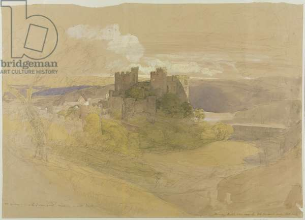 Conway Castle (graphite, w/c and gouache on paper mounted on card)