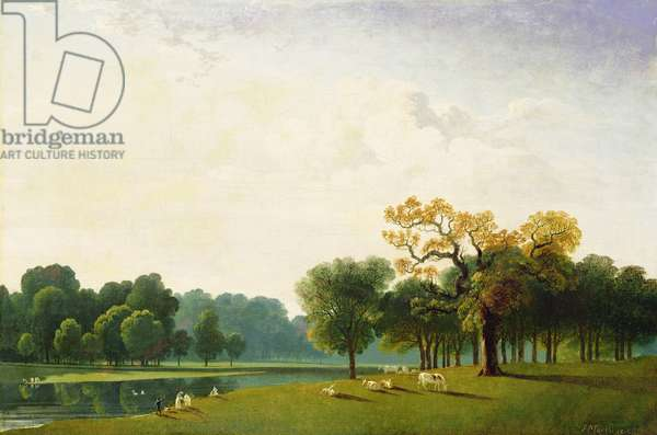 A View of the Serpentine, 1815 (oil on canvas)