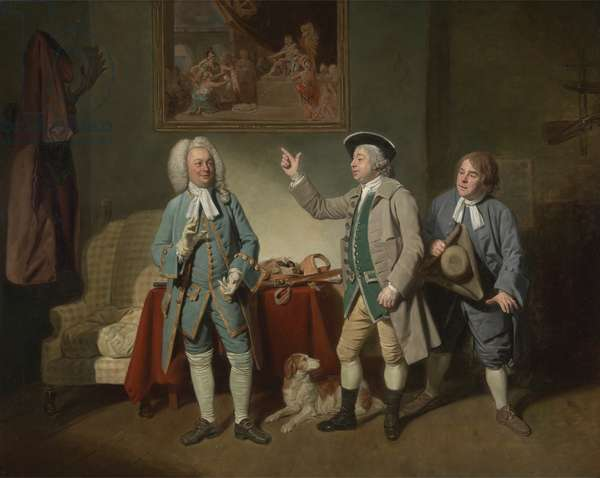 Edward Shuter, John Beard and John Dunstall in Isaac Bickerstaffe's 'Love in a Village', 1767 (oil on canvas)