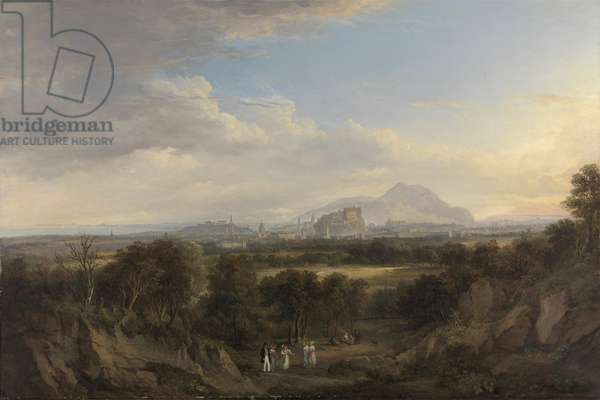 A View of Edinburgh from the West, c.1822-26 (oil on canvas)