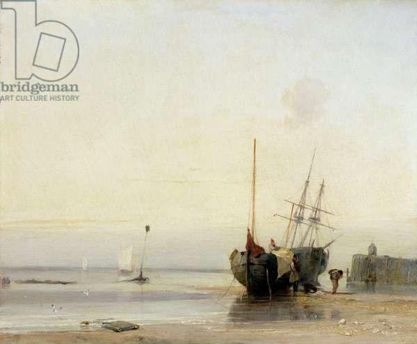 Calais Pier, c.1823-24 (oil on panel)