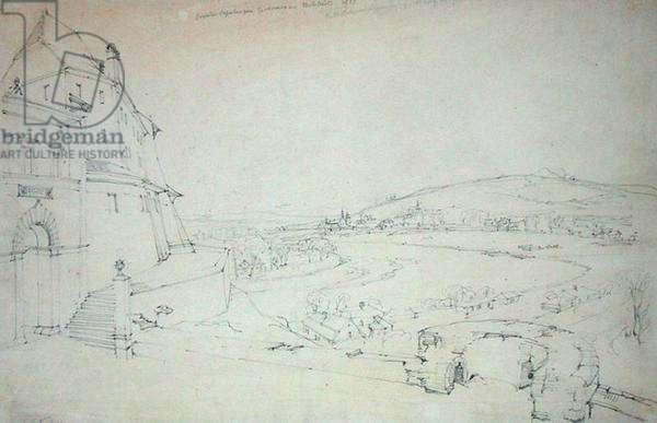 Crakow, 1827 (pencil on paper)