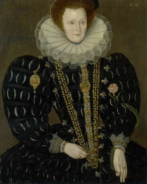 Portrait of Lady Elizabeth Knightley, 1591 (oil on panel)