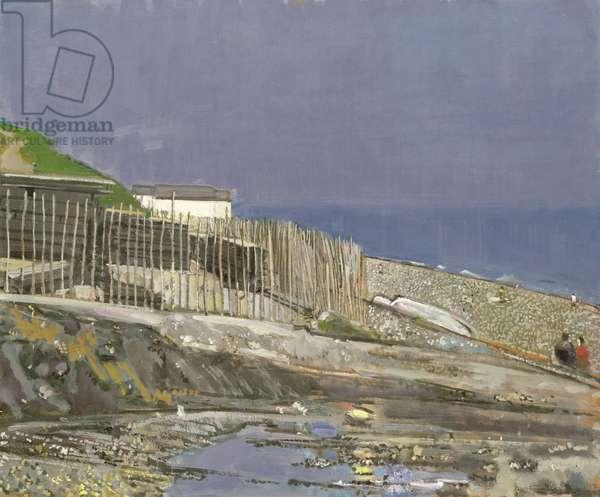 Channel Coast (oil on masonite board)