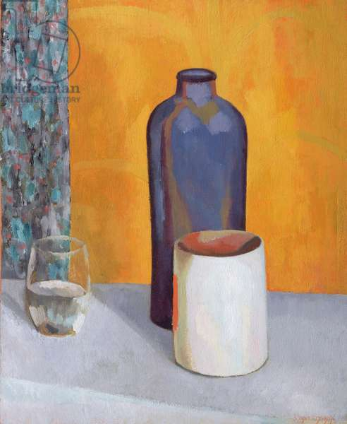 Still Life with a Blue Bottle, 1917 (oil on canvas)