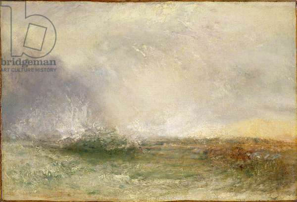 Stormy Sea Breaking on a Shore, 1840-5 (oil on canvas)