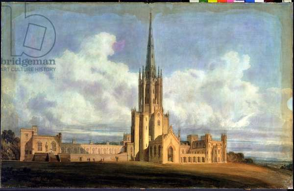 Projected Design for Fonthill Abbey, Wiltshire, 1798 (w/c on wove paper backed with linen)