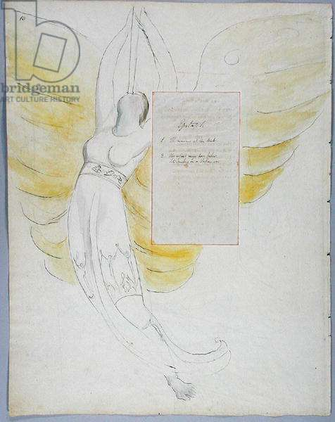 'Epitaph on Mrs. Clarke', design 102 from' The Poems of Thomas Gray', 1797-98 (w/c with pen and ink on paper)